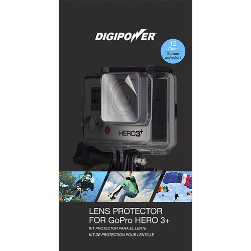 DigiPower - Lens Protectors for GoPro HERO3+ & GoPro HERO4 (12-Pack)
