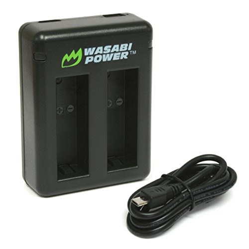 Wasabi Power DUAL Slot USB Battery Charger for GoPro HERO6 / HERO5 Black