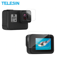 TELESIN Lens and Screen Protectors For GoPro HERO8 - 2 Pack