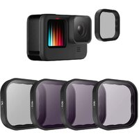 TELESIN CPL/ND Filter Set For GoPro HERO9 (CPL, ND8, ND16, ND32)