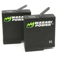 Wasabi Power Batteries for GoPro HERO7/HERO6/HERO5 Black/HERO 2018 (2 Pack)