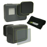 Wasabi Power Accessory BUNDLE for GoPro HERO7/HERO6/HERO5-Lens Cap/Screen protection